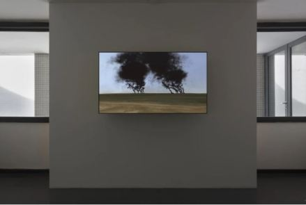 John Gerrard - Burning Oil Fields (near Abadan, Iran), 2013 - Simulation