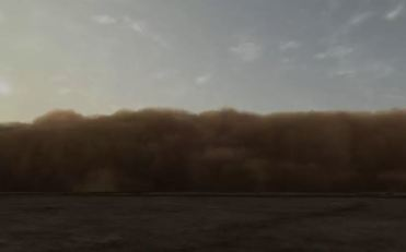 John Gerrard - Dust Storm (Dalhart, Texas), 2007 - Realtime 3D software, custom made monitor or projection