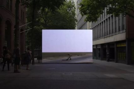 John Gerrard - Infinite Freedom Exercise (near Abadan, Iran) 2011, 2011 - Realtime 3D software, custom made monitor or projection