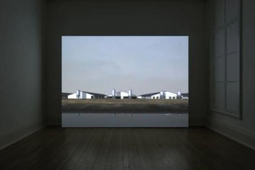 John Gerrard - Sow Farm (near Libbey, Oklahoma), 2009 - Realtime 3D projection