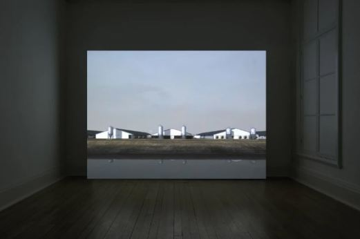 John Gerrard - Sow Farm (near Libbey, Oklahoma), 2009 - Realtime 3D projection
