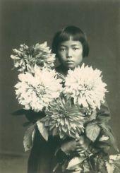 L'artista Yayoi Kusama da bambina