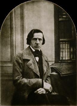 L'unica fotografia conosciuta di Chopin, circa 1849. Fotografia di Louis-Auguste Bisson