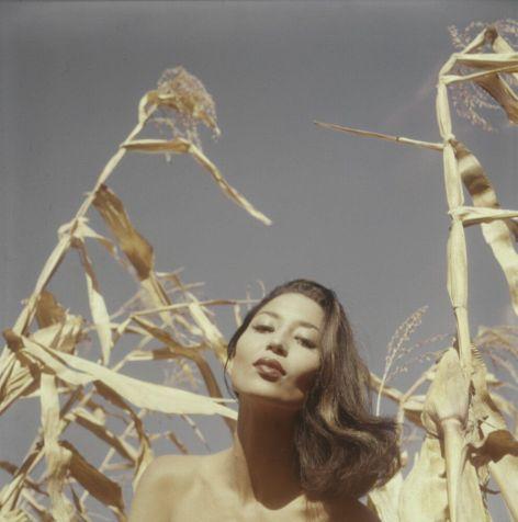 Modella China Machado, anni 50. Fotografia di Peter Basch