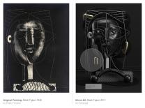 Original Painting: Black figure (1948) by Pablo Picasso - Mimic 3d: Black figure (2017) by Omar Aqil