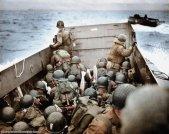 Sbarco sulla spiaggia di Omaha in Normandia, in Francia, il 6 giugno 1944, noto anche come D-Day