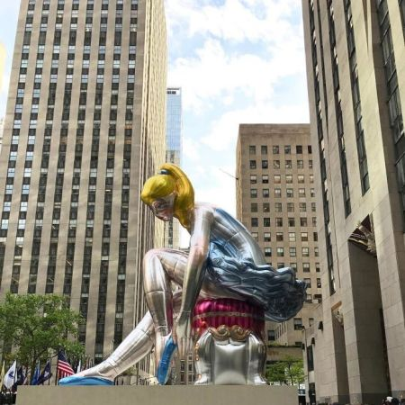Seated Ballerina by Jeff Koons @ Rockefeller Plaza, NYC