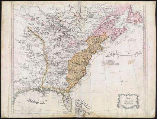 Una incredibile mappa ottomana degli Stati Uniti dal 1803. Include nomi di stato e tribù dei nativi americane in Occidente