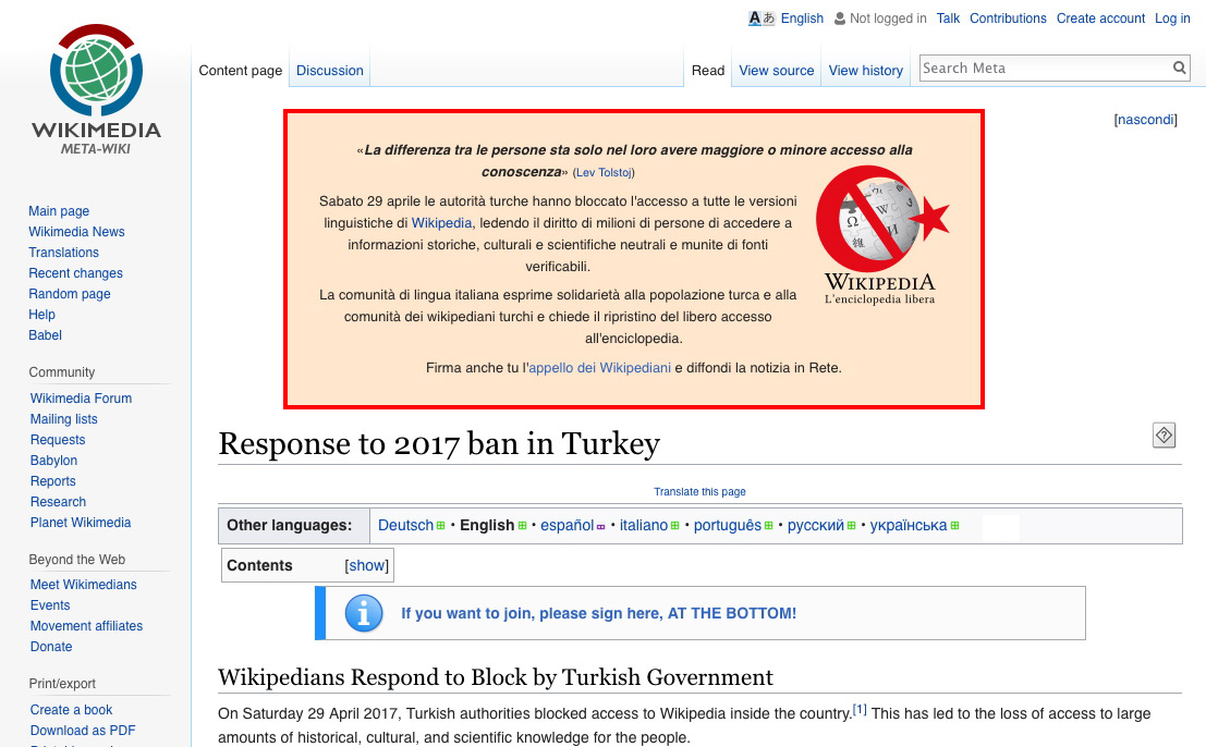 Wikipedia Turchia
