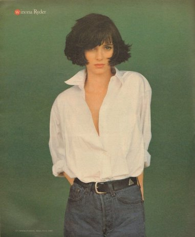 Winona Ryder, Rolling Stone, 1989