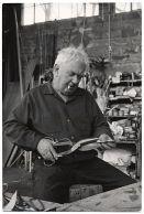 Alexander Calder taglia metallo, ca. 1955