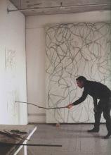 Brice Marden disegna con un bastone