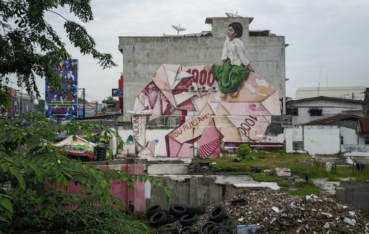 Ernest Zacharevic @Medan - Photo Credit Ernest Zacharevic