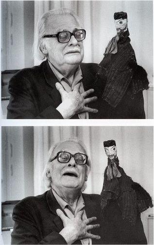 Felix Klee con suo padre, il burattino di Paul Klee