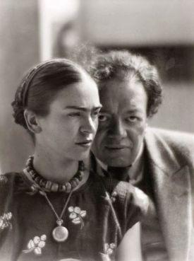 Frida Kahlo e Diego Rivera, Messico 1933. Fotografia di Martin Munkácsi