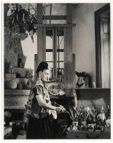 Frida Kahlo nel suo studio a Casa Azul, Coyoacan