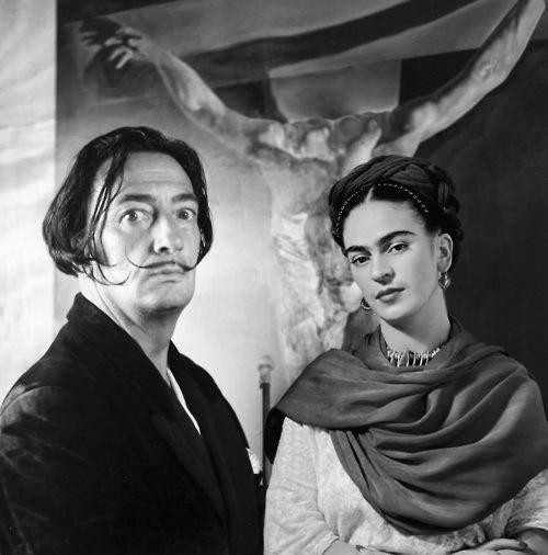 Frida Kahlo con Salvador Dalì