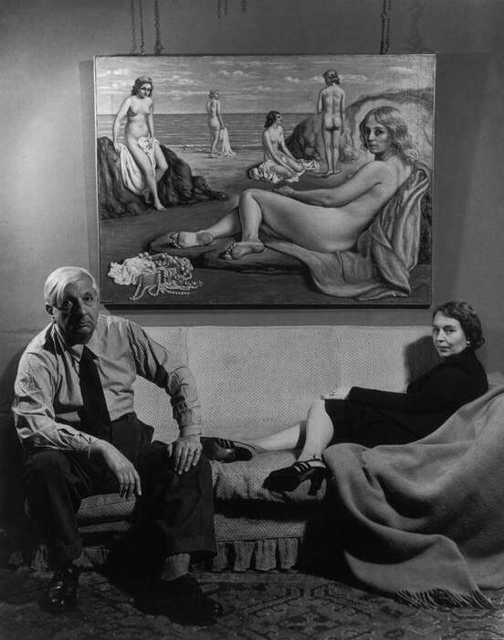 Giorgio de Chirico e sua moglie. Fotografia di Philippe Halsman