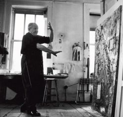 Hans Hoffman nel suo studio, New York City 1957