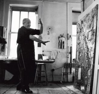 Hans Hoffman nel suo studio, New York City 1957