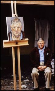 David Hockney posa per Lucian Freud