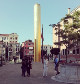 Venezia - The Golden Tower by James Lee Byars