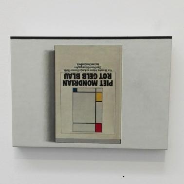"Biennale Arte 2017 - Padiglione Centrale (Giardini): ""Book PaintingNo. 10 (Piet Mondrian Rot Gelb Blau, Insel Taschenbuch"" (1995) by Liu Ye (Cina)"