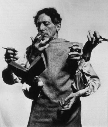 Jean Cocteau. Fotografia di Philippe Halsman