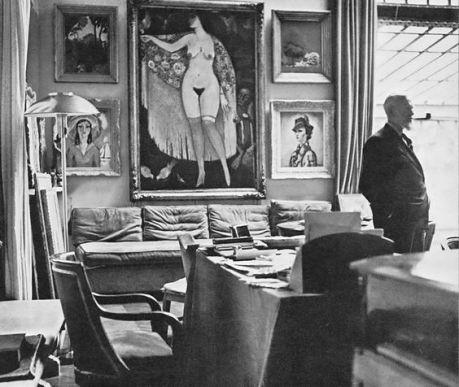 Kees Van Dongen nel suo atelier