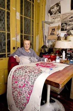 Louise Bourgeois a lavoro, New York, 2009