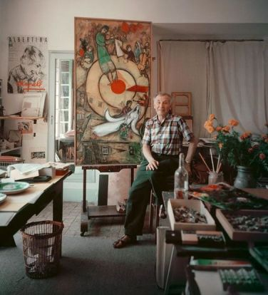 Marc Chagall nel suo studio, 1955