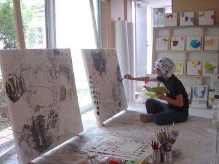 Mayako Nakamura nel suo studio