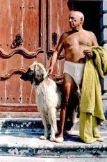 Pablo Picasso col suo cane