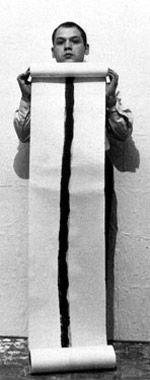 Piero Manzoni con una Linea, 1959
