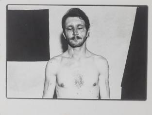 "Tibor Hajas: ""Psyché – Égett arc / Psyché – Burnt Face"", 1979"