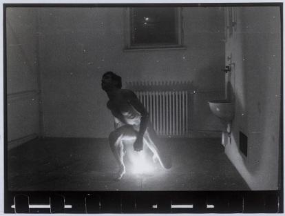 """Tibor Hajas: """"Képkorbácsolás / Image Whipping IV"""", 1978"""