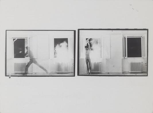 "Tibor Hajas: ""Képkorbácsolás / Image Whipping V"", 1978"