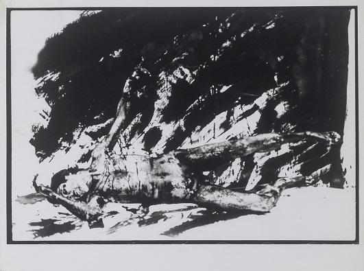 "Tibor Hajas: ""Húsfestmény / Flesh Painting III"", 1978"