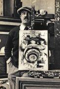 Un giovane Fernand Léger al suo cavalletto
