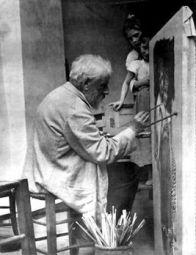 William Bouguereau nel suo studio