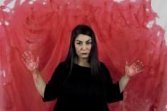 Monica Mura - Non + Sabas Tinguidas. (Non più lenzuola macchiate) 2016. #nonmaissabastinguidas. Azione collaborativa in Rete tra Spagna e Italia + Performance 25N contro la violenza di genere. Concello de Ribadavia. (Spagna) (azione / performance / paesaggio sonoro)