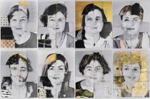 """Monica Mura - Nos+Otras: en Red. El Retrato. (Noi+Altre: in Rete. Il Ritratto) (2015-2017). Esposizione """"El espacio de la Memoria"""" al Museo Thyssen-Bornemisza di Madrid (Spagna) 2017. Selezione delle opere risultanti dai laboratori creativi"""