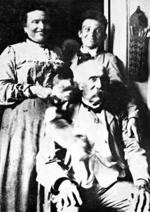 Amedeo Modigliani con Giovanni Fattori e la signora Micheli