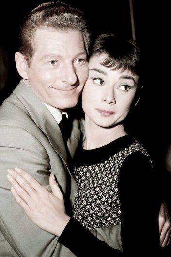 Audrey Hepburn e Danny Kaye sul set di Sabrina, 29 gennaio 1954