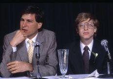 Bill Gates con Steve Jobs, 1985