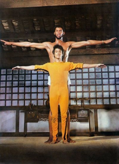 "Bruce Lee e Kareem Abdul Jabbar sul set di ""Game of Death"", 1972"