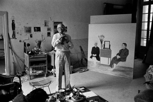David Hockney nel suo studio