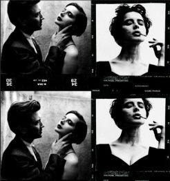 David Lynch e Isabella Rossellini by Helmut Newton