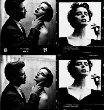 David Lynch e Isabella Rossellini by Helmut Newton