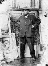 Il pittore Georges Braque nell'atelier di Picasso (11 Bld. de Clichy), 1909 - Fotografia di Pablo Picasso